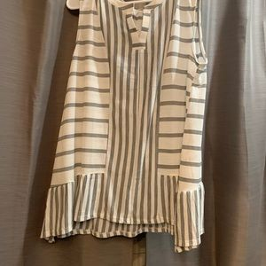 Ava James XL Sleeveless Striped Top